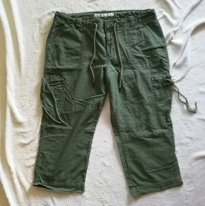Old Navy Mid-Rise Linen-Blend Cropped Pants